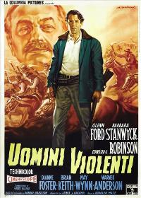 The Violent Men - 27 x 40 Movie Poster - Italian Style A