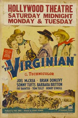 The Virginian - 11 x 17 Movie Poster - Style H