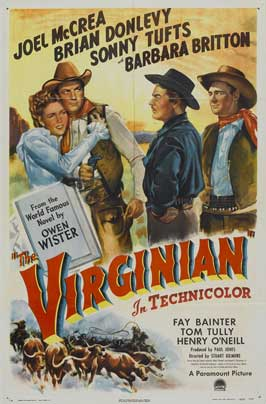 The Virginian - 11 x 17 Movie Poster - Style F