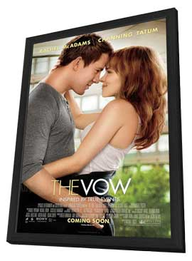 The Vow - 27 x 40 Movie Poster - Style B - in Deluxe Wood Frame