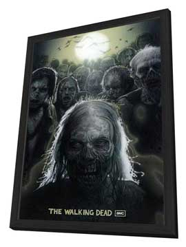 The Walking Dead (TV) - 27 x 40 TV Poster - Style A - in Deluxe Wood Frame