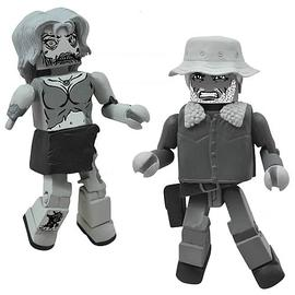 The Walking Dead (TV) - Halloween Minimates Black and White 2-Pack