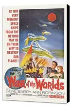 The War of the Worlds - 27 x 40 Movie Poster - Style B - Museum Wrapped Canvas