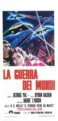 The War of the Worlds - 13 x 28 Movie Poster - Italian Style A