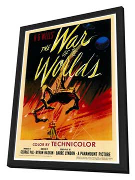 The War of the Worlds - 27 x 40 Movie Poster - Style A - in Deluxe Wood Frame