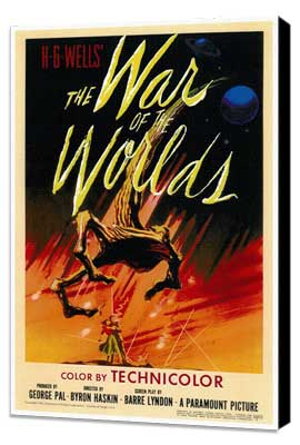 The War of the Worlds - 27 x 40 Movie Poster - Style A - Museum Wrapped Canvas
