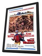 The War Wagon - 27 x 40 Movie Poster - Style A - in Deluxe Wood Frame