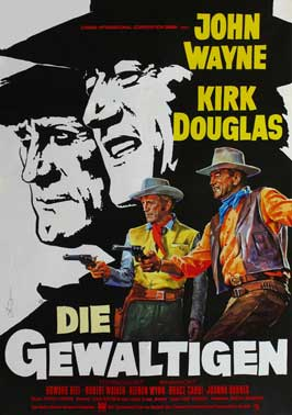 The War Wagon - 11 x 17 Movie Poster - German Style A