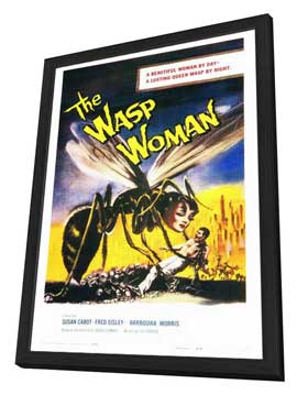 The Wasp Woman - 27 x 40 Movie Poster - Style A - in Deluxe Wood Frame