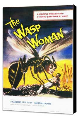 The Wasp Woman - 11 x 17 Movie Poster - Style A - Museum Wrapped Canvas