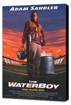 The Waterboy - 27 x 40 Movie Poster - Style B - Museum Wrapped Canvas