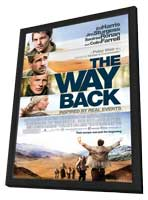 The Way Back - 11 x 17 Movie Poster - Style A - in Deluxe Wood Frame