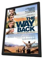 The Way Back - 27 x 40 Movie Poster - Style A - in Deluxe Wood Frame