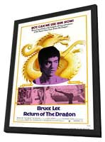 The Way of the Dragon - 11 x 17 Movie Poster - Style A - in Deluxe Wood Frame