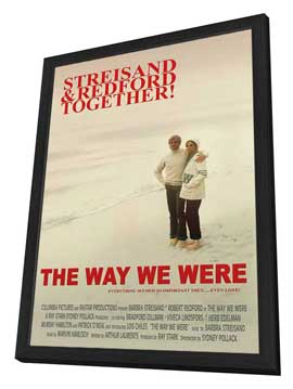 Way We Were, The - 27 x 40 Movie Poster - Style B - in Deluxe Wood Frame