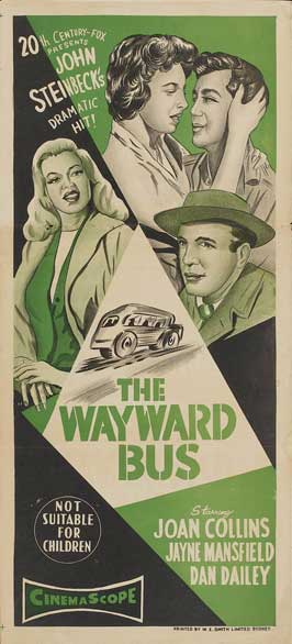 The Wayward Bus - 14 x 36 Movie Poster - Insert Style A