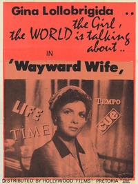 The Wayward Wife - 27 x 40 Movie Poster - Style A