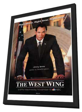 The West Wing - 27 x 40 TV Poster - Style A - in Deluxe Wood Frame