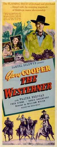 The Westerner - 14 x 36 Movie Poster - Insert Style A