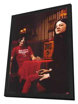 The White Stripes - 11 x 17 Music Poster - Style B - in Deluxe Wood Frame