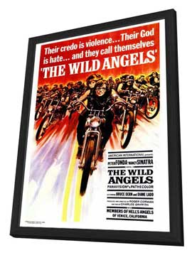 The Wild Angels - 27 x 40 Movie Poster - Style A - in Deluxe Wood Frame