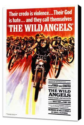 The Wild Angels - 27 x 40 Movie Poster - Style A - Museum Wrapped Canvas