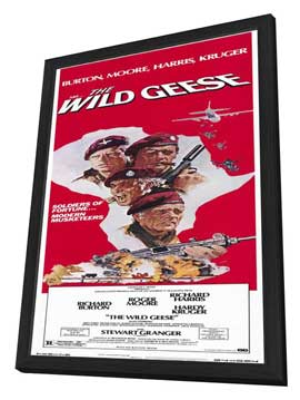 The Wild Geese - 14 x 36 Movie Poster - Insert Style A - in Deluxe Wood Frame