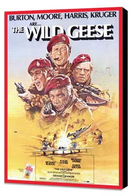 The Wild Geese - 27 x 40 Movie Poster - Style A - Museum Wrapped Canvas