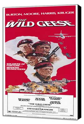 The Wild Geese - 14 x 36 Movie Poster - Insert Style A - Museum Wrapped Canvas