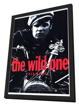 The Wild One - 27 x 40 Movie Poster - German Style A - in Deluxe Wood Frame