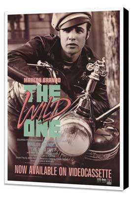 The Wild One - 27 x 40 Movie Poster - Style B - Museum Wrapped Canvas