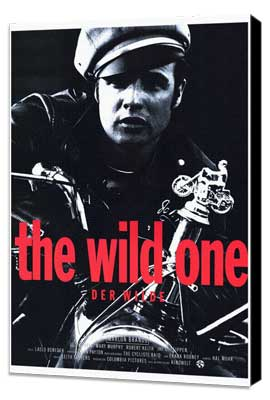 The Wild One - 27 x 40 Movie Poster - German Style A - Museum Wrapped Canvas