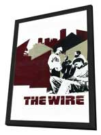 The Wire - 11 x 17 TV Poster - Style C - in Deluxe Wood Frame