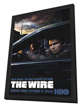 The Wire - 27 x 40 TV Poster - Style B - in Deluxe Wood Frame