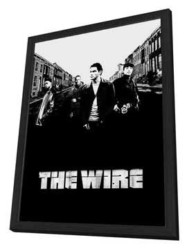 The Wire - 27 x 40 TV Poster - Style D - in Deluxe Wood Frame