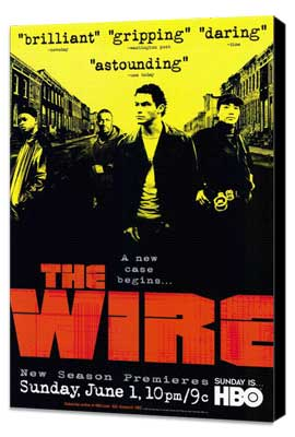 The Wire - 11 x 17 TV Poster - Style A - Museum Wrapped Canvas