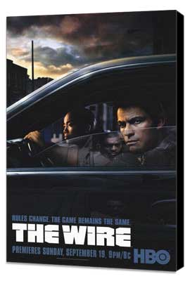 The Wire - 11 x 17 TV Poster - Style B - Museum Wrapped Canvas