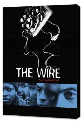The Wire - 11 x 17 TV Poster - Style F - Museum Wrapped Canvas