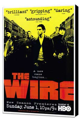 The Wire - 27 x 40 TV Poster - Style A - Museum Wrapped Canvas