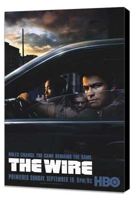 The Wire - 27 x 40 TV Poster - Style B - Museum Wrapped Canvas