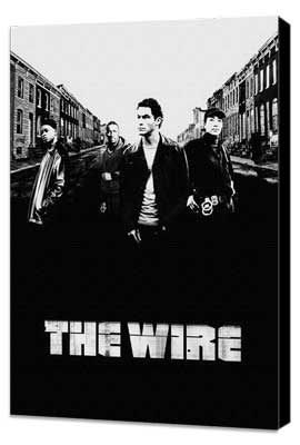 The Wire - 27 x 40 TV Poster - Style D - Museum Wrapped Canvas