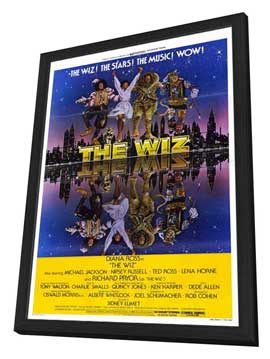 The Wiz - 11 x 17 Movie Poster - Style A - in Deluxe Wood Frame