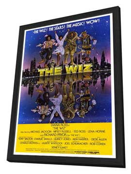 The Wiz - 27 x 40 Movie Poster - Style A - in Deluxe Wood Frame