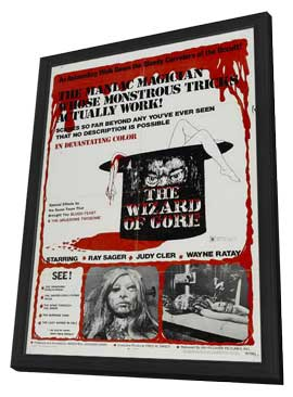 The Wizard of Gore - 11 x 17 Movie Poster - Style A - in Deluxe Wood Frame