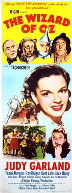 The Wizard of Oz - 14 x 36 Movie Poster - Insert Style A