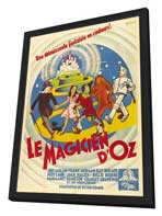 The Wizard of Oz - 11 x 17 Movie Poster - French Style A - in Deluxe Wood Frame