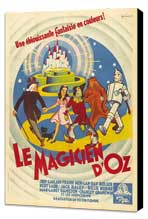 The Wizard of Oz - 11 x 17 Movie Poster - French Style A - Museum Wrapped Canvas