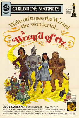 The Wizard of Oz - 27 x 40 Movie Poster - Style E