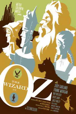 The Wizard of Oz - 27 x 40 Movie Poster - Style J