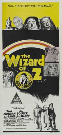The Wizard of Oz - 13 x 30 Movie Poster - Australian Style A